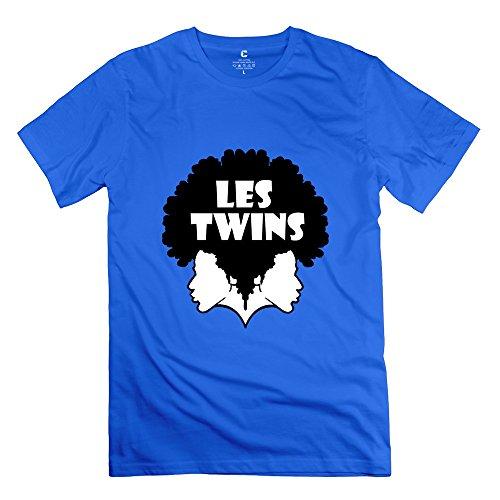 C-DIY Men's T Shirts Graphic Les Twins Hiphop Dancer S RoyalBlue
