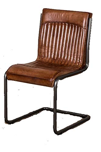 Peppermill VINTAGE INSPIRED TAN LEATHER DINING CHAIR ...