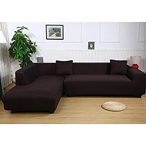Buy KITCHY Polyester Stretch Sofa Covers L Shape Slipcover 2 Pcs3