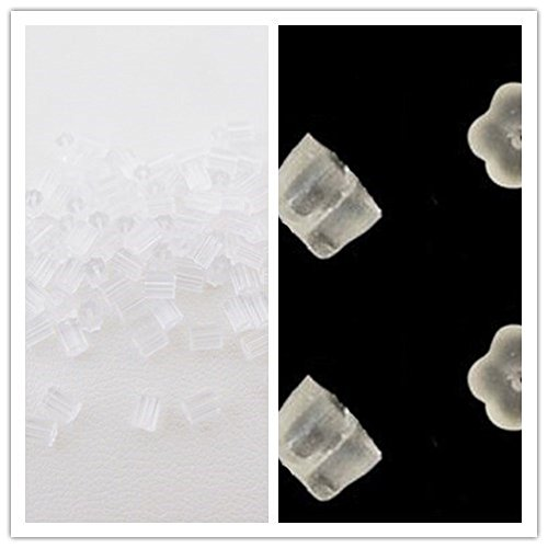 TOAOB Invisible Plastic Blank Earrings Pin Post Stud Back Findings Pad Nickel Free 100 Pieces