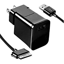 High Quality Travel Charger and Cable for Samsung Galaxy 7 8.9 10.1 inch Tab 2 Tablet, Home Wall Charger + USB Cable, BLACK