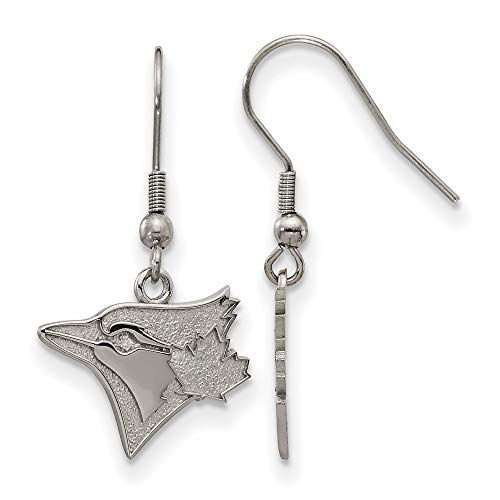 (MLB Toronto Blue Jays Stainless Steel Toronto Blue Jays Dangle Earrings Size One Size)