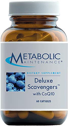Metabolic Maintenance Deluxe Scavengers – Antioxidant Supplement with Pomegranate, CoQ10, Vitamins, Lutein + Zeaxanthin (60 Capsules)