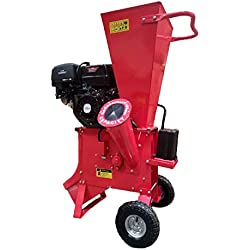 "Samson Machinery 15HP 420CC Gas Powered Wood Chipper Shredder 4"" Capacity w/Mulch Bag"
