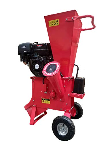 15HP 420CC Gas Powered Wood Chipper Shredder Mulcher, 4