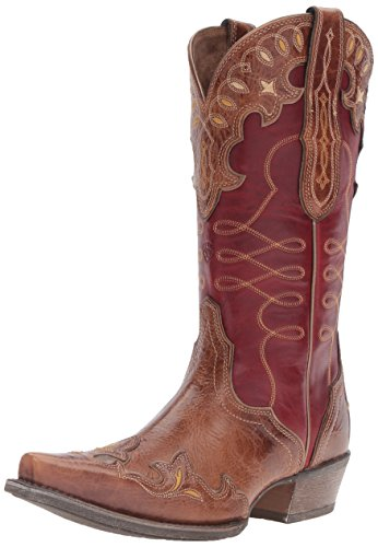 Ariat Women's Zealous Western Cowboy Boot, Gingersnap, 9 B US