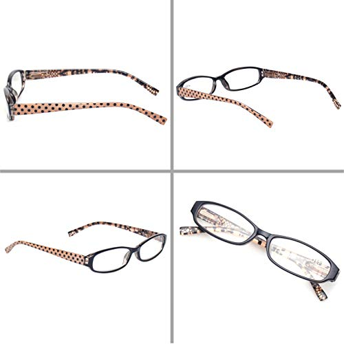 61b2f8dd6aeb Reading Glasses Comb Pack of Multiple Classic Men and Women Readers Spring  Hinge Glasses (5