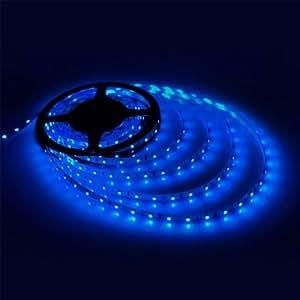 ELETA 12V Flexible LED Strip Lights, LED Tape, blue, 300 Units 3528 LEDs, Non-waterproof, Light Strips, 5M Length