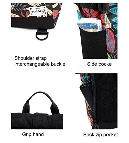 Viajes Sling Libre Senderismo Color Pecho al Deportes Bolsa Printing Crossbody Azul Leaf tamaño Eeayyygch Hombres Maple Impermeable Bag Aire Casual 8IdWwqqA