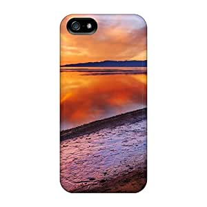 Tpu Fashionable Design Glorious Lake Shore Sunset Rugged Case Cover For Iphone 5/5s New