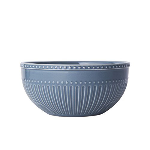 Mikasa Italian Countryside Accents Soup/Cereal Bowl, Fluted Blue (Countryside Soup Bowl)