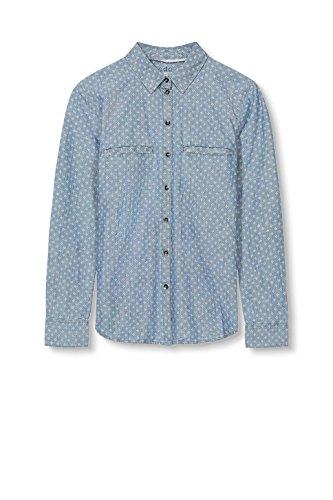Camicia Wash Medium blue Edc Blu Esprit By Donna wARq1gE