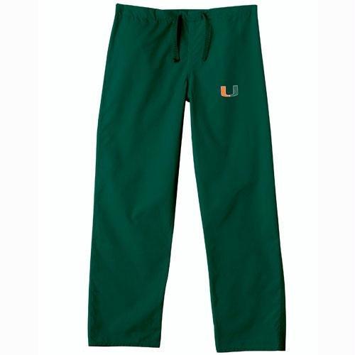 Miami Hurricanes NCAA Classic Scrub Pant (Green) (X Small) by Gelscrubs
