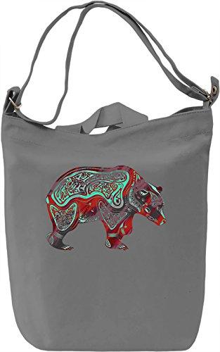 Polar Bear Borsa Giornaliera Canvas Canvas Day Bag| 100% Premium Cotton Canvas| DTG Printing|