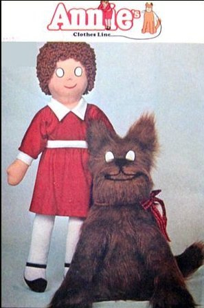 McCalls 5898 Life Size Little Orphan Annie, Dog Sandy Pattern Vintage -