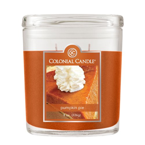 Oval Pumpkin - Colonial Candle 8-Ounce Scented Oval Jar Candle, Pumpkin Pie