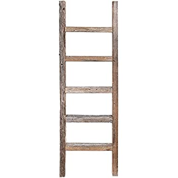 this item decorative ladder reclaimed old wooden ladder 4 foot rustic barn wood