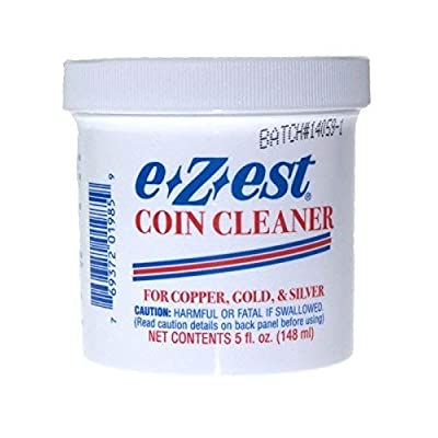 5oz e-Z-est Coin Cleaner for Gold Silver and Copper Coins: Toys & Games