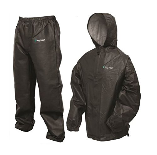 Frogg Toggs Pro Lite Rain Suit, X/2X, Carbon (Packable Storm Pant)
