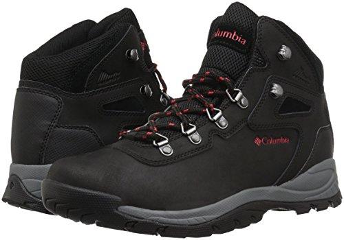 Columbia Women's Newton Ridge Plus Hiking Boot Black/Poppy Red 7 Wide US by Columbia (Image #5)