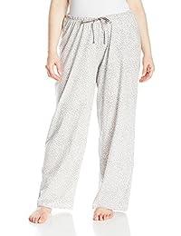 Hue Womens Plus-Size Women's Printed Knit Long Pajama Sleep Pant