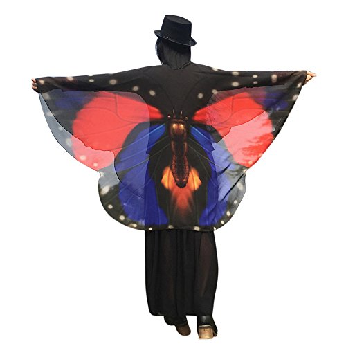 iQKA Halloween Costume Party Prop Egypt Dancing Costume Butterfly Wings Accessories(AS,one Size)