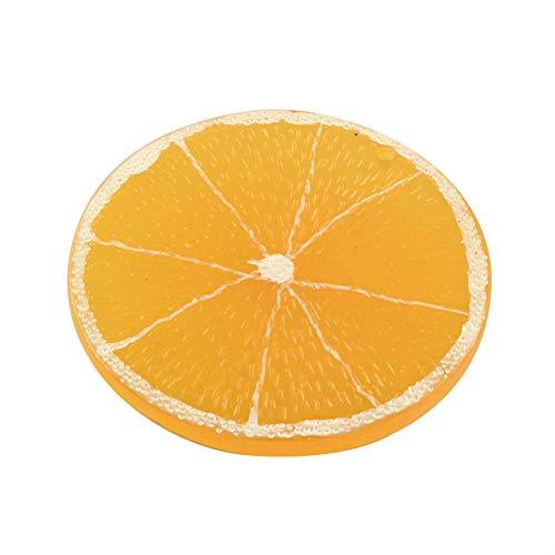 ARRICRAFT 100pcs Round Resin Cabochons Flat Back Orange Fruit Pendants 48mm Cabochon Decoration for Crafting Jewelry Making