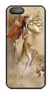 Covers Fairy Forest Meadow Custom PC Hard Case Cover for iPhone 5/5S Black