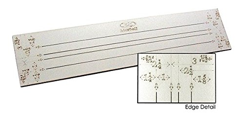 Martelli 24 Strip Ruler with Multiple Widths SR-24-05-S