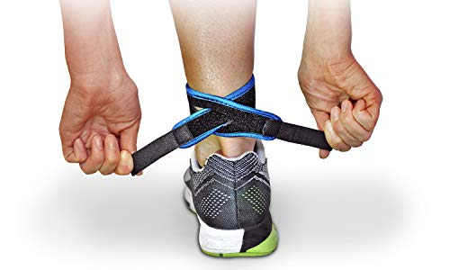 CROSSTRAP Achilles Strap by MDUB Medical Prevent Achilles Tendonitis Running, Cycling, Hiking, Outdoor Sports (Blue, 1 Pack Large)