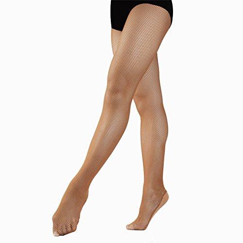 020994521c1 Professional Dance Tan Flesh Brown Nude Fishnet Tight Stockings for Women