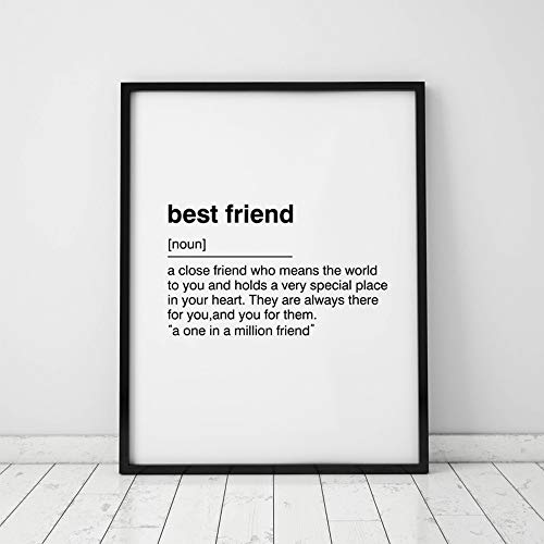 Bestie Definition Print, Best Friend Gift, Friend Gift, Bestie Gift, Best Friend Print, Gift for Friend, Gifts for her, Friend Present, Wall Art, Art Gift, 8x10inch Unframed (Print Poster Best Friend)