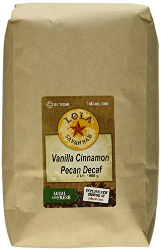 Bean Pecan Whole - Lola Savannah Vanilla Cinnamon Pecan Whole Bean, Decaf, 2 Pound