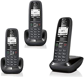 Gigaset AS405 Trio Telefono Cordless DECT/GAP, Nero [Italia]: Amazon.es: Coche y moto