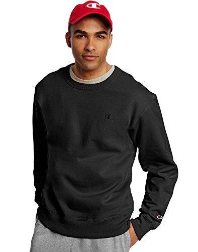 Champion Mens Jersey Short (Champion Men's Powerblend Fleece Pullover Sweatshirt, Black, 3XL)
