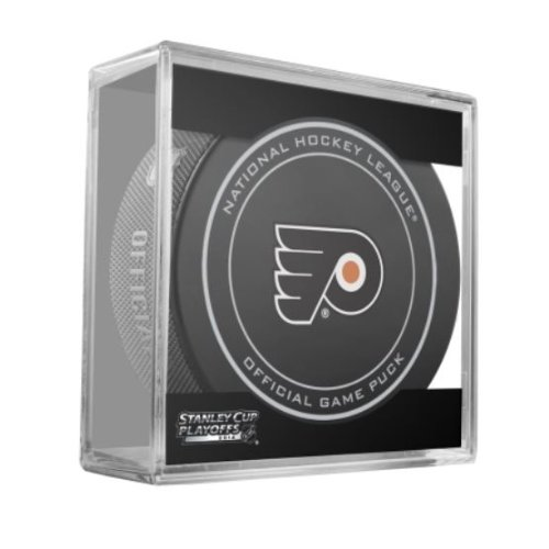 2014 NHL Stanley Cup Playoffs Philadelphia Flyers Hockey Game Puck in Acrylic Cube ()
