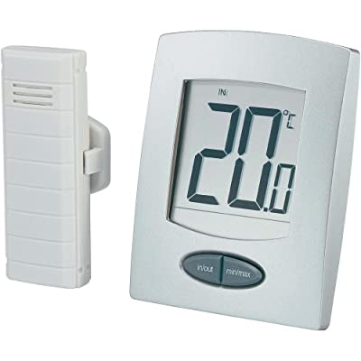 Black Blooming Weather 30.3040.IT Zoom Indoor//Outdoor Radio Thermometer