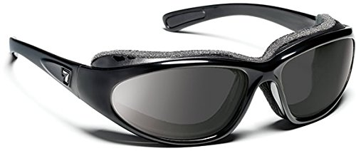 7eye Churada Resin Sunglasses,Glossy Black Frame/SharpView Gray Lens,one size