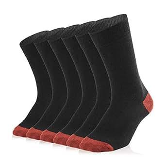 SOXTOWN Men's Ankle Athletic Socks, 6 Pairs Super Soft Durable Casual Socks (black)