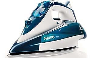 Philips GC4410/02 - Plancha de vapor, función antigoteo, 2400 W, color azul y blanco