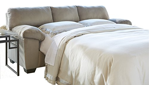 Ashley Furniture Signature Design – Dailey Contemporary Full Sofa Sleeper with Mattress – Alloy Beige