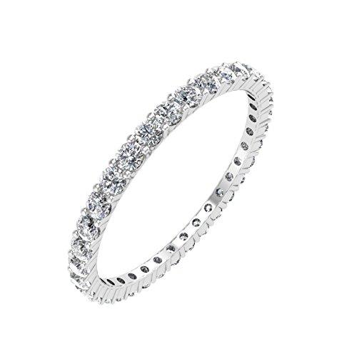 IGI Certified 14K White Gold Prong Set D - Prong Set Diamond Eternity Band Shopping Results
