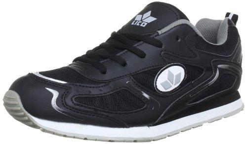Lico Nelson 110077 - Zapatillas de deporte para hombre Negro (Schwarz/grau)