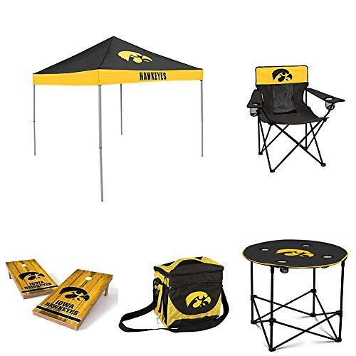 NCAA Iowa Hawkeyes Large Tailgate Set