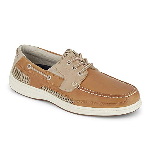 (Dockers Mens Beacon Leather Casual Classic Boat Shoe with NeverWet, Tan/Taupe, 10 W)