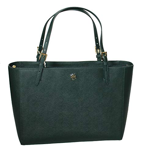 Tory Burch Emerson Large Buckle Tote Saffiano Leather Handbag 49125 (Jitney -