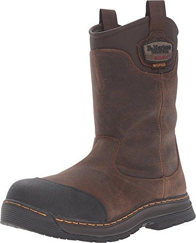 Dr. Martens Work Rush Electrical Hazard Waterproof Composite Toe Rigger Boot, Brown Crisscross, UK 12 (US Men's 13) D-Medium