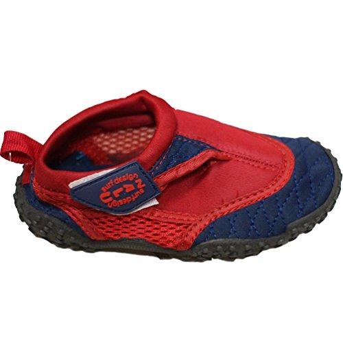 Nalu - Zapatillas de agua para adultos, color azul rojo - rojo/azul marino