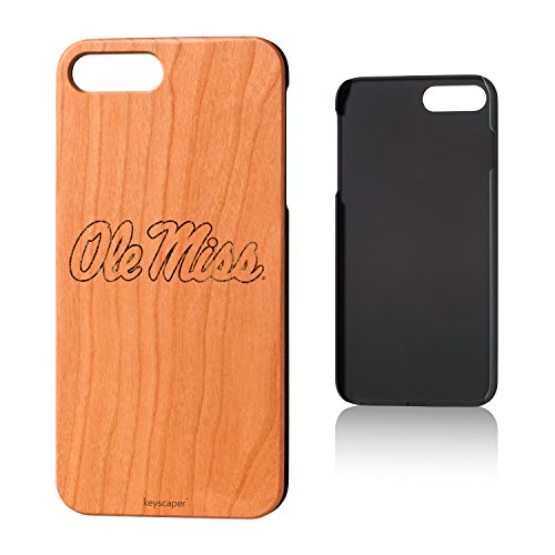 Keyscaper Mississippi Ole Miss Rebels Cherry Wood iPhone 7 Plus/iPhone 8 Plus Case NCAA