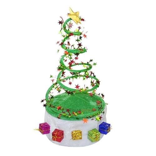 [OKOKMALL US--Christmas Xmas Tree Party Adult Children Kids Hat Cap Costume Gifts Decoration] (Cher Believe Costume)